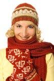 Fille dans le vêtement de l'hiver Photo libre de droits