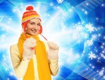 Fille dans le vêtement de l'hiver photographie stock libre de droits