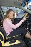 Fille dans le véhicule Photo libre de droits