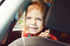 Fille dans le véhicule Image libre de droits