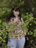 Fille dans les bois Photo libre de droits