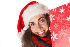 Fille dans Noël Images stock