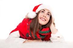 Fille dans Noël Photographie stock