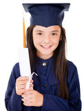 Fille dans sa graduation Photos stock