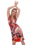 Fille dans sundress omnicolores Image stock
