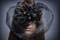 Fille dans un beau chapeau Image stock
