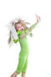 Fille dans un costume Photographie stock libre de droits