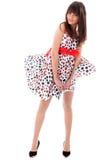 Fille dans une robe se développante Photo libre de droits