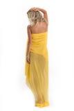 Fille dans une robe transparente Images stock