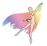 Fille de ballerine de danse illustration de vecteur