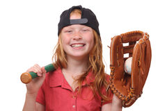 Fille de base-ball Photo stock