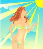 Fille de bikini Image libre de droits