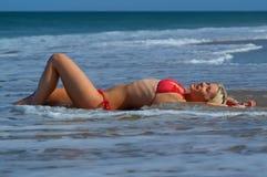 Fille de bikini Photo stock