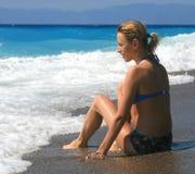 Fille de bikini Images stock