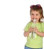 fille de boissons peu d'eau Photo stock