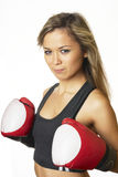 Fille de boxe Photos stock