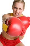 Fille de boxe Images stock
