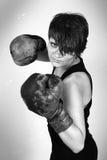 fille de boxeur Photographie stock libre de droits