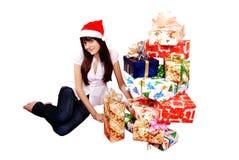 fille de cadeaux images stock