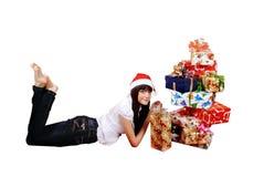 fille de cadeaux photo stock
