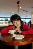 Fille de café Image libre de droits