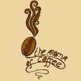 Fille de café de logo illustration stock