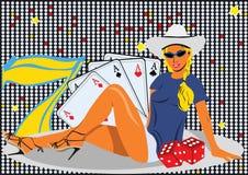 Fille de casino Photo libre de droits