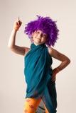 Fille de clown Photographie stock libre de droits