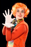 Fille de clown. Images libres de droits
