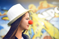 Fille de clown Images stock