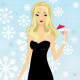 Fille de cocktail Photo stock