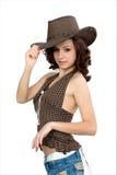 fille de cowboy Photos stock