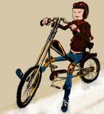 Fille de cycliste Photographie stock libre de droits