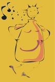Fille de danse Image stock