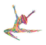 Fille de danse abstraite de silhouette de vecteur illustration stock