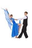 fille de danse de danse de garçon de salle de bal image libre de droits