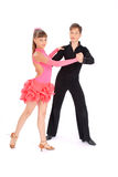 fille de danse de danse de garçon de salle de bal Photos libres de droits