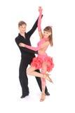 fille de danse de danse de garçon de salle de bal Photographie stock libre de droits
