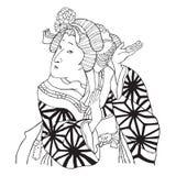 Fille de danse japonaise Photographie stock libre de droits