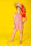 Fille de danse polynésienne d'été Image libre de droits