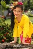 Fille de danseur de Bali Image stock