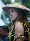 Fille de Dayak de tribu photo libre de droits