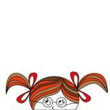Fille de dessin animé Image stock