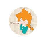 Fille de dessin animé Photo stock