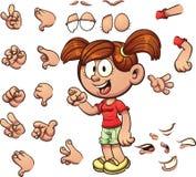 Fille de dessin animé Images libres de droits