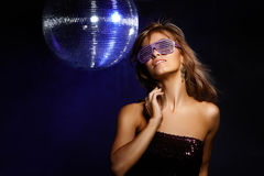 Fille de disco photo stock