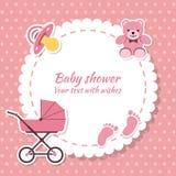 Fille de fête de naissance, carte d'invitation Photos libres de droits