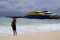 Fille de ferry Photo libre de droits