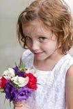 Fille de fleur Images stock