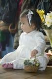 Fille de fleur Image libre de droits
